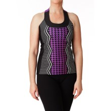 Moxie Cycling T-Back Cycling Jersey - Scoop Neck (For Women) in Violet/White/Black - Closeouts