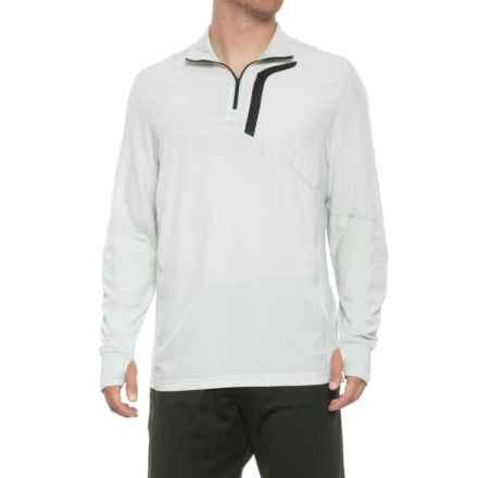 59317f657 MPG Contra Running Shirt - Zip Neck, Long Sleeve (For Men) in Heather