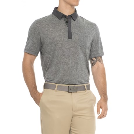 MPG Eagle Polo Shirt - Short Sleeve (For Men) in Heather Charcoal