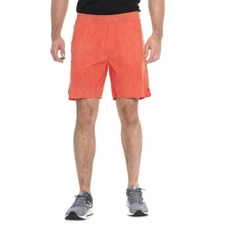 MPG Hype 3.0 Printed Running Shorts - Built-in Liner (For Men) in Burnt Orange Grain