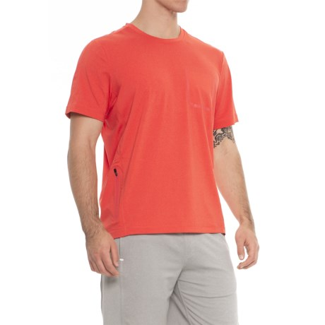 MPG Jet Stream T-Shirt - Short Sleeve (For Men) in Heather Burnt Orange