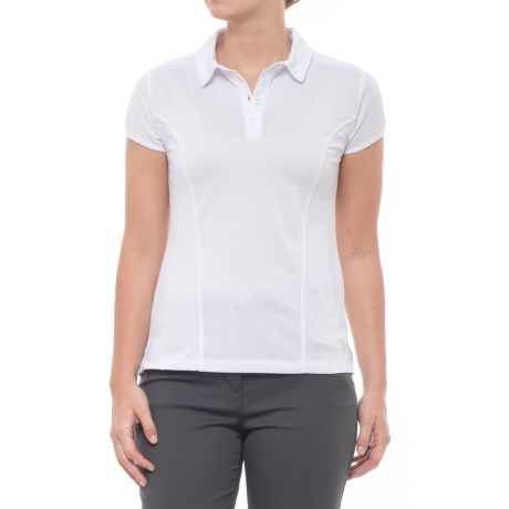 MPG Loft Polo Shirt - Short Sleeve (For Women) in White