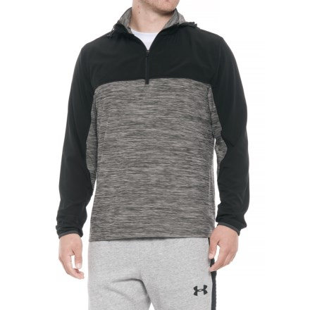 933e87c403686 MPG Panel Hooded Running Shirt - Zip Neck, Long Sleeve (For Men) in