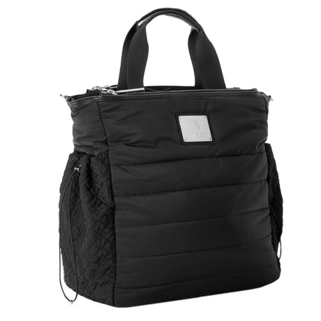 MPG Peak Quilted Tote Bag in Black