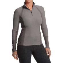MPG Vie Running Shirt - Zip Neck, Long Sleeve (For Women) in Heather Charcoal - Closeouts