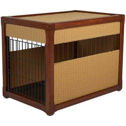 "Mr. Herzher's Deluxe Wicker Dog Crate - 36x28x24"" in Rhino Wicker - Closeouts"