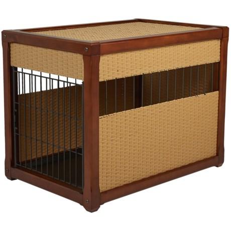"Mr. Herzher's Deluxe Wicker Dog Crate - 36x28x24"" in Rhino Wicker"