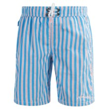 Mr. Swim Boardshorts - Built-In Briefs (For Little Boys) in Blue - Closeouts
