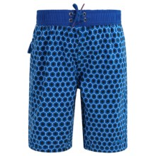 Mr. Swim Boardshorts - Built-In Briefs (For Toddlers) in Dark Blue - Closeouts