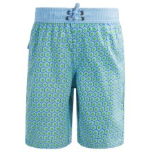 Mr. Swim Boardshorts - Built-In Briefs (For Toddlers) in Green - Closeouts