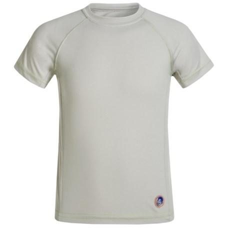Mr. Swim Contrast Solid Rash Guard - UPF 50+, Short Sleeve (For Big Boys) in Grey/Lime