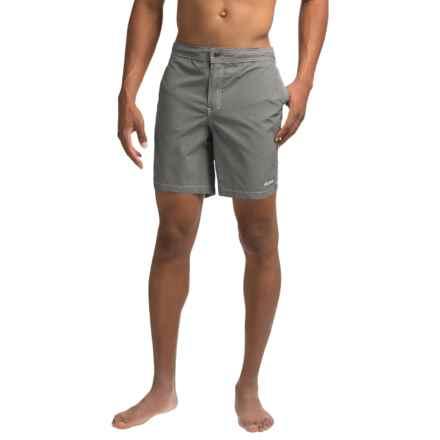 Mr. Swim Kurt Hybrid Swim Shorts (For Men) in Grey Heather Hybrid - Closeouts