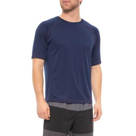 bb17d70d50d5f Mr. Swim Navy-Red Contrast Stitching Swim T-Shirt - UPF 50+