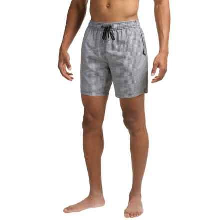 Mr. Swim Nylon Mesh Bucket Swim Trunks (For Men) in Grey Dots - Closeouts