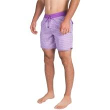 Mr. Swim Printed Boardshorts (For Men) in Purple Bumps - Closeouts