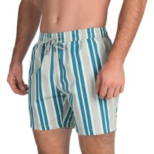 Mr. Swim Printed Swim Trunks (For Men) in Ocean Stripe - Closeouts