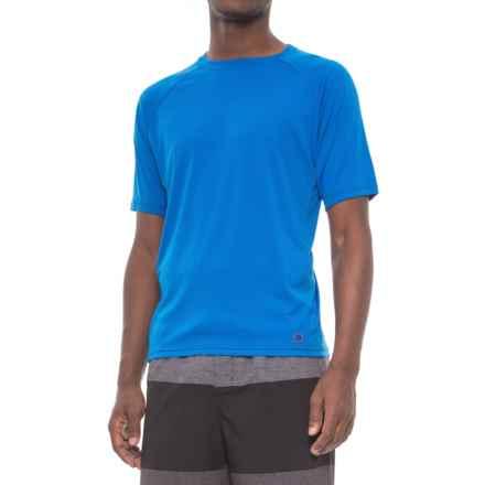 Mr. Swim Swim Shirt - UPF 50+, Short Sleeve (For Men) in Royal/Black - Closeouts