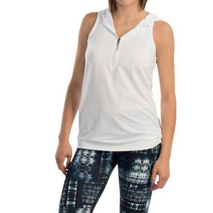 MSP by Miraclesuit Hooded Tank Top - Zip Neck (For Women) in White - Closeouts