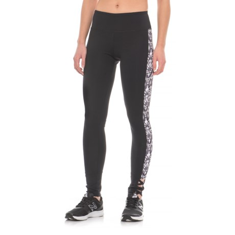 MSP by Miraclesuit Print Side Panel Leggings (For Women) in Black/White