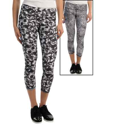 MSP by Miraclesuit Printed Capris - Reversible (For Women) in White Combo - Closeouts