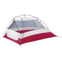 MSR Nook V2 Tent with Gear Shed - 2-Person, 3-Season in Gray/Red - Closeouts