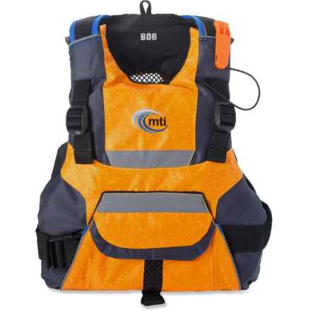 MTI Adventurewear BOB PFD Life Jacket - USCG-Approved, Type III (For Kids) in Fractal Mango/Gray - Closeouts