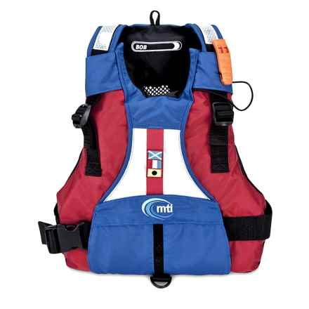 MTI Adventurewear BOB PFD Life Jacket - USCG-Approved, Type III (For Kids) in Mariner Blue/Red - Closeouts