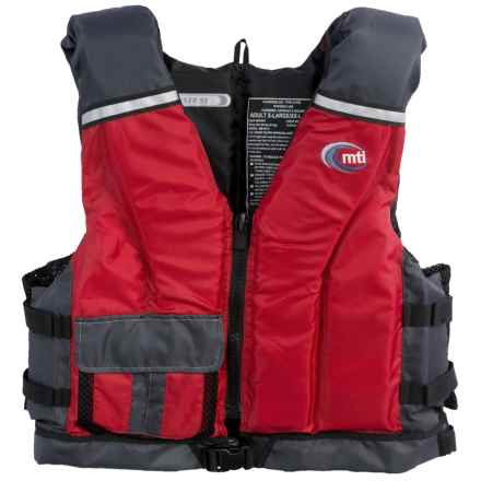 MTI Adventurewear Cruiser SE PFD Life Jacket - USCG-Approved, Type III in Red/Grey - Closeouts