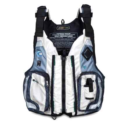 MTI Adventurewear Dio F-Spec Type III PFD Life Jacket in Aluminum/Gray - Closeouts