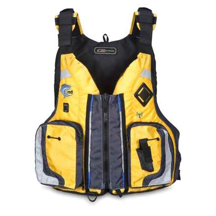 MTI Adventurewear Dio F-Spec Type III PFD Life Jacket in Yellow Ripstop/Gray - Closeouts