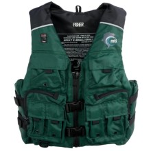 MTI Adventurewear Fisher PFD Life Jacket - USCG-Approved, Type III in Green/Black - Closeouts