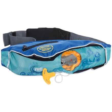 MTI Adventurewear Fluid 2.0 Type III PFD Life Jacket Belt Pack in Ocean Print - Overstock
