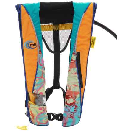 MTI Adventurewear Helios 2.0 Inflatable Type III PFD Life Jacket in  Mango/Caribe Print -