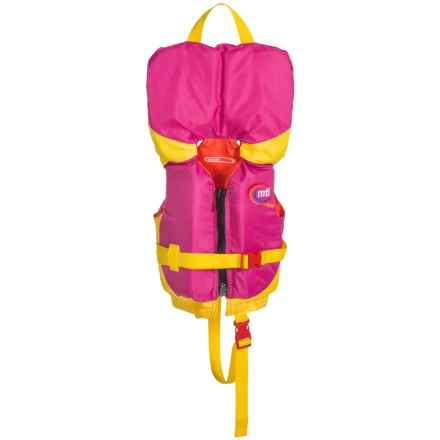 MTI Adventurewear Infant with Collar Type II PFD Life Jacket (For Infants and Toddlers) in Berry/Yellow - Overstock