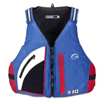 MTI Adventurewear Journey PFD Life Jacket - Type III in Mariner Blue/Red - Closeouts