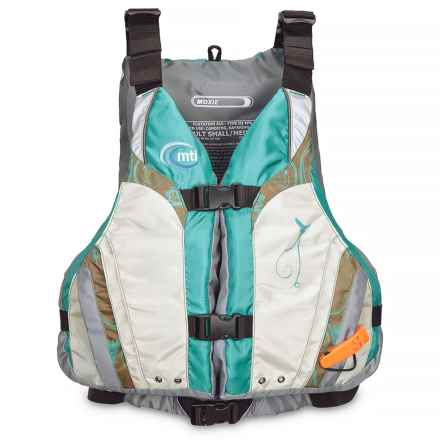 MTI Adventurewear Moxie Highback Type III PFD Life Vest (For Women) in Turpouise/Aluminum - Closeouts