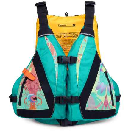 MTI Adventurewear Moxie Highback Type III PFD Life Vest (For Women) in Turquoise/Print - Closeouts