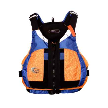 MTI Adventurewear PFDiva PFD Life Jacket - Type III (For Women) in Fractal Mango/Blue - Closeouts