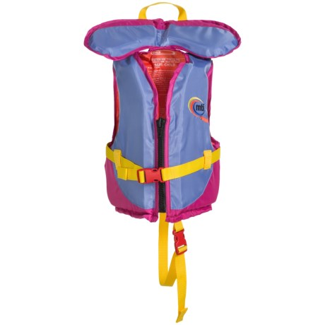 MTI Adventurewear Type III Child PFD Life Jacket (For Kids) in Periwinkle/Berry