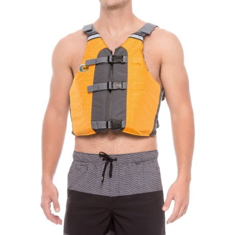 MTI Adventurewear Universal Type III PDF Life Jacket - All Person Fit in Mango/Gray