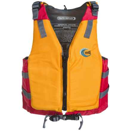 MTI Adventurewear Youth Reflex Type III PFD Life Jacket (For Youth and Kids) in Mango/Red - Overstock