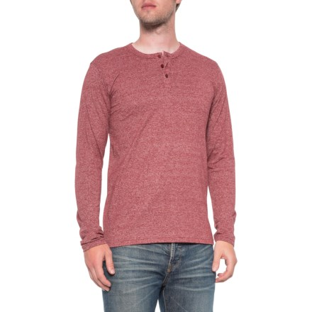 03e84521 MTL Maroon Heather Henley Shirt - Long Sleeve (For Men) in Maroon Heather