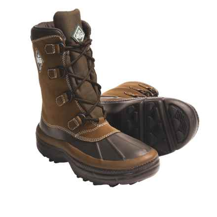 Muck Boot Company Andes Winter Boots - Waterproof, Insulated, Leather (For Men) in Chocolate - Closeouts