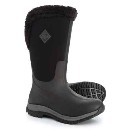 Muck Boot Company Apres Tall Slip-On Winter Boots- Waterproof, Insulated (For Women) in Black - Closeouts