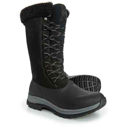 Muck Boot Company Arctic Apres Lace Tall Boots - Waterproof, Insulated (For Women) in Black