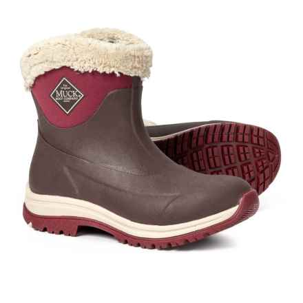 Muck Boot Company Arctic Apres Slip-On Boots - Waterproof, Insulated (For Women) in Brown/Red