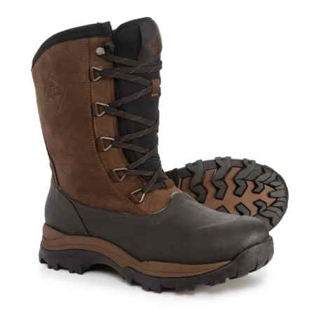 Muck Boot Company Arctic Outpost Mid LACED Snow Boots - Waterproof, Insulated (For Men) in Brown - Closeouts