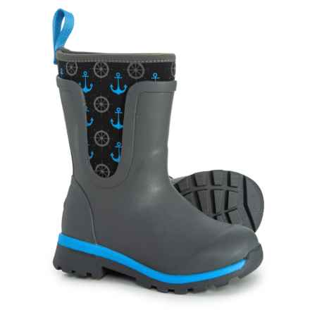 Muck Boot Company Cambridge Anchor Mid Boots - Waterproof, Insulated (For Girls) in Grey - Closeouts