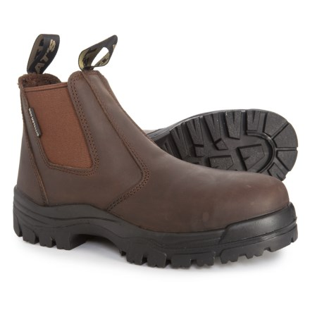 8f1211f67c3c Muck Boot Company Chelsea Work Boots - Composite Safety Toe (For Men) in  Brown