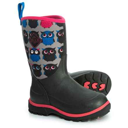 Muck Boot Company Element Owl Boots - Waterproof, Insulated (For Girls) in Red - Closeouts